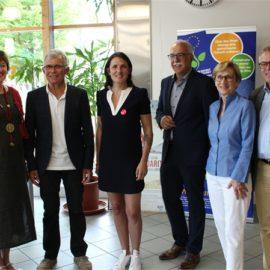 """Eurodistrikt Strasbourg-Ortenau übergibt Spendensumme aus dem Lauf """"KM Solidarité 2018"""""""